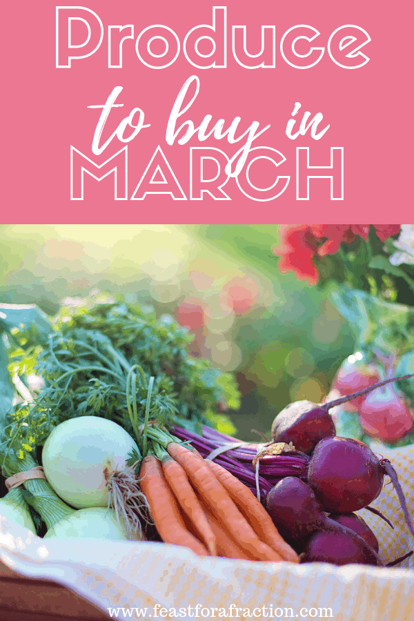 picture of produce to buy in March
